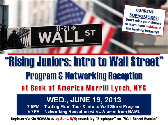 Intro to Wall Street Networking Reception!